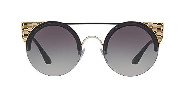 Bulgari BV6088 gafas de sol w/gris del gradiente de la lente de 54 mm 20188G BV 6088 mujer Negro Oro Pálido Grande: Amazon.es: Ropa y accesorios