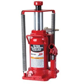 ATD 7421 12-Ton Heavy-Duty Hydraulic Air-Actuated Bottle Jack, 1 Pack