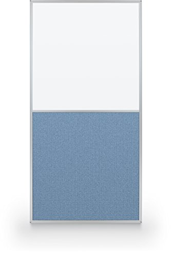 Best-Rite 72 x 36 Inch Standard Modular Divider Panel, Markerboard and Blue Fabric, (66223) by Best-Rite