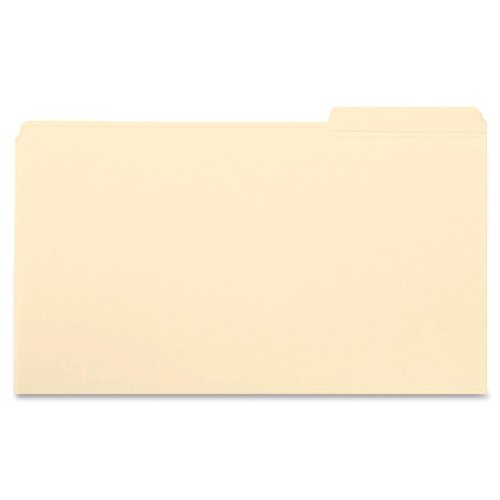 (Smead File Folder, Reinforced 1/3-Cut Tab Right Position, Legal Size, Manila, 100 Per Box (15337))