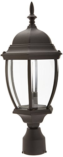 Designers Fountain 2436-BK Tiverton Post Lanterns, Black Tiverton 1 Light Cast
