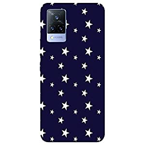 SmartNxt® Designer Printed Soft Plastic Mobile Cover for Vivo V21 5G  Pattern  Blue  Glowing Star in Shades of Bright…