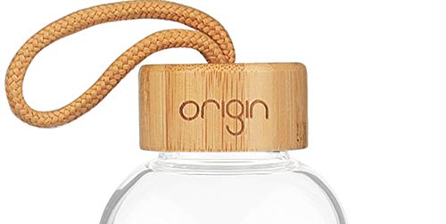 (ORIGIN Glass Co Narrow Mouth Bamboo Replacement Lid Glass Water Bottle)