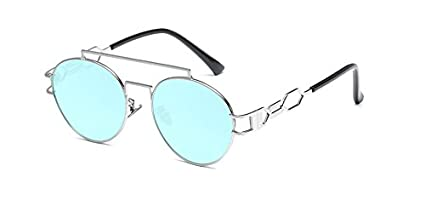 01e98a4b6 Image Unavailable. Image not available for. Color: GigaMax TM Gothic  Steampunk Sunglasses Men Women Metal Wrap Sunglasses Round Aviation Hollow Shades  Brand ...