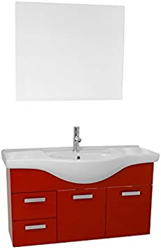 Acf Ph89 Phinex Wall Mount Bathroom Vanity Set 39 Glossy Red Amazon Com