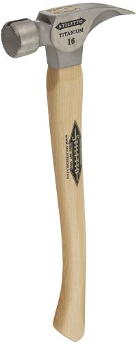 """Stiletto Ti16MC Ti 16 Milled Face Hammer with a Curved 18"""" Hickory Handle"""