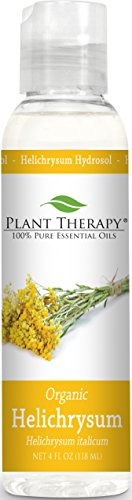 Plant Therapy Organic Helichrysum Hydrosol. (Flower Water, Floral Water, Hydrolats, Distillates) Bi-Product of Essential Oils. 4 Ounce.