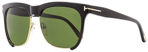 Tom Ford Womens Thea Signature T-Bar Cat Eye Sunglasses Black O/S (Designer Square Sonnenbrille)