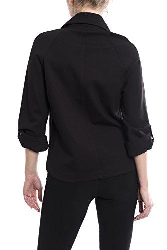 Joseph Ribkoff Black Double Breasted Jacket Style 174304 Size 12 by Joseph Ribkoff (Image #1)