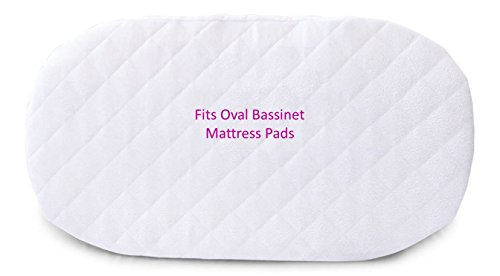 Amazon.com : Premium Bassinet Mattress Pad Waterproof Bamboo Cover - Fits  HALO, Rectangular, & Oval Bassinets - Hypoallergenic Breathable Protector  ... - Amazon.com : Premium Bassinet Mattress Pad Waterproof Bamboo Cover