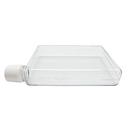 3a2f50cb493f SAIBANG Reusable Flat Plastic Water Bottle, Special Book Shape Design  Plastic Memo Flat Portable Water Bottle (380ml)