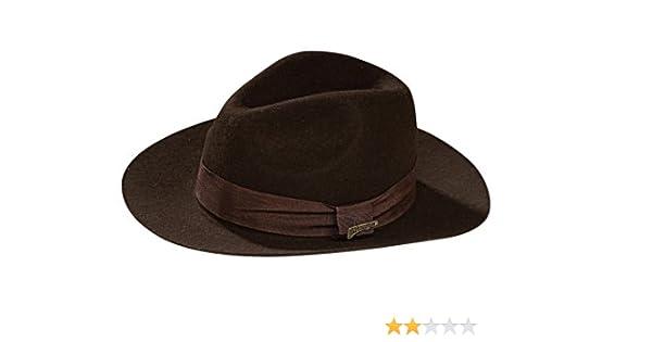 12a41fc461ba6 Indiana Jones tm Deluxe Adult Hat. Brown Felt. One size fit (gorro sombrero)   Amazon.es  Juguetes y juegos
