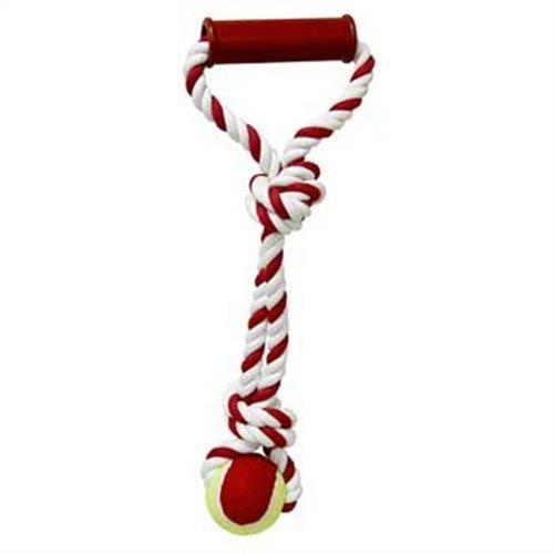 Tug-O-Rope Handle Tug with Tennis Ball Dog Toy 15''