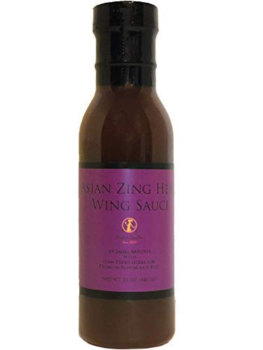Premium Asian Zing Wing Sauce - Crafted in Small Batches with Farm Fresh Herbs for Premium Flavor and Zest ()
