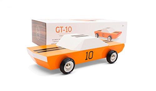 (Candylab Toys - GT10 Wooden Car - Modern Vintage Racer - Solid Beech Wood)