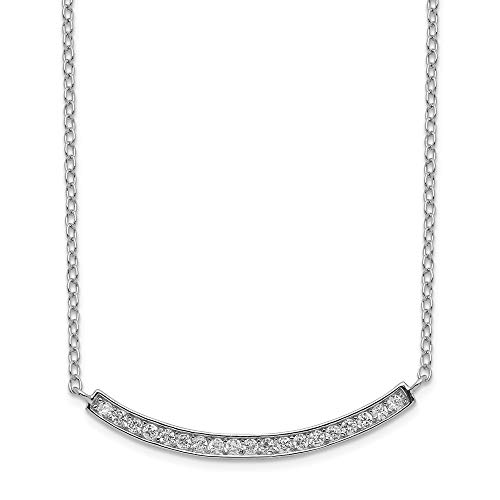 925 Sterling Silver Cubic Zirconia Cz Bar Chain Necklace Pendant Charm Fine Jewelry Gifts For Women For Her