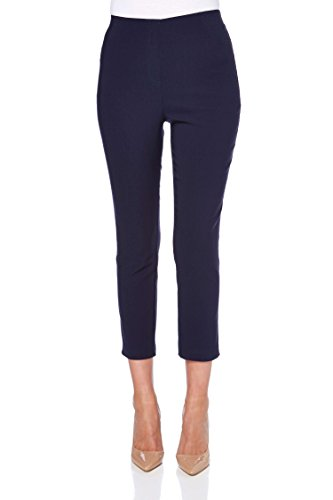 Roman Originals Femme Pantacourt 7/8 Amincissant Stretch - Jeans Jeggings Grande Taille Printemps Ete Simple Poches Marine