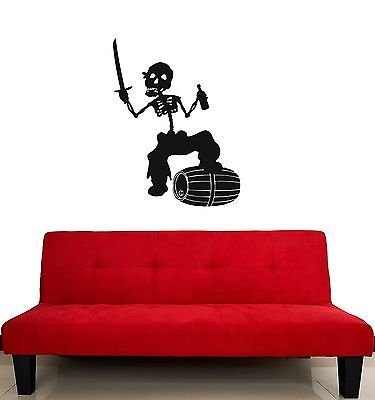 Wall Stickers Vinyl Decal Dead Pirate Sabre Nursery Baby Room (Sabre Pirate)