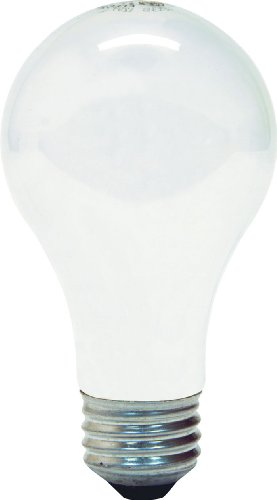 GE Lighting 97864 25-Watt 215-Lumen General Purpose A19 Incandescent Light Bulb, Inside Frost, 2-Pack ()