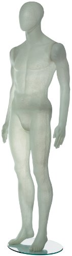 Econoco ROM1MFW Translucent Fiberglass Male with Oval Head, White Translucent by Econoco
