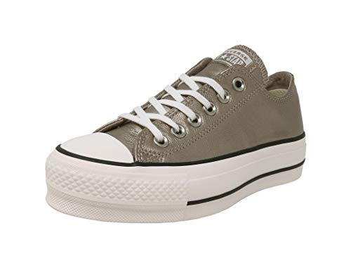 Converse Lined Sneakers - Converse Womens Chuck Taylor All Star Lift Metallic Gold/Black/White Sneaker - 6