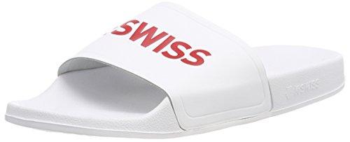 K-Swiss Unisex Adults' K75104 Flip Flops White Size: 7 UK