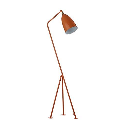 HAGDS European Art Floor Lamp Simple Living Room Study Bedroom Creative Iron Tripod Industrial Floor Lamp (Color : Orange)
