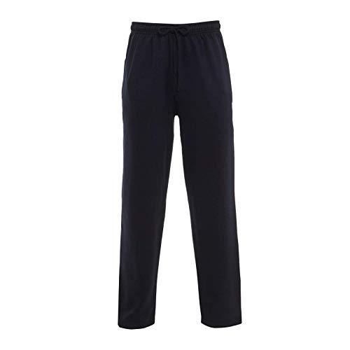 Elite Pleasure Mens Plain Joggers Fleece Bottom Opem Hem Trouser Zip Pockets Gym Sports Yoga Pants Size UK S-5XL