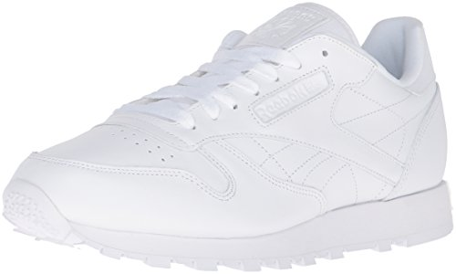 Reebok Men's Cl Lthr Fashion Sneaker, US-WHITE/White/White, 8 M US by Reebok