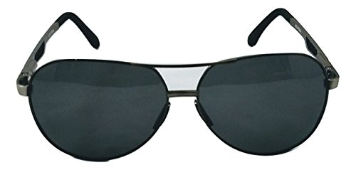 XXL extra large Round Aviator Polarized Sunglasses for big wide heads 150mm (gunmetal, - Extra Large Sunglasses