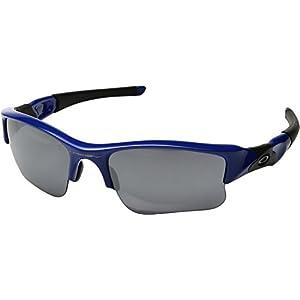 Oakley  Men's MPH Flak Jacket XL Blue/Black Iridium One Size