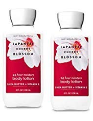 Bath and Body Works 2 Pack Japanese Cherry Blossom Super Smooth Body Lotion 8 Oz (Pear Blossom Body Lotion)