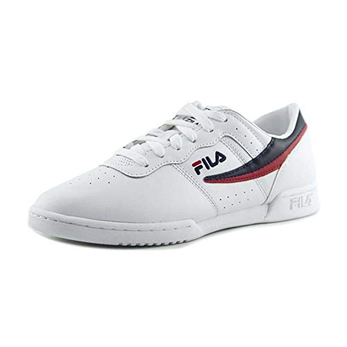 Original Fitness Sneaker - Fila Womens Original Fitness White/Navy/Red Sneaker - 7.5