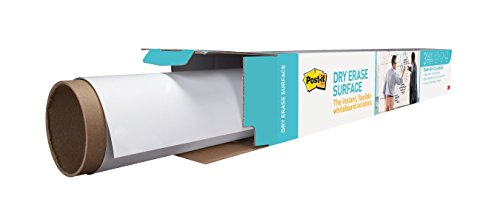 Post-it Dry Erase Surface (6 ft x 4 ft) - Great for Tables, Desks and Other Surfaces (Discontinued by Manufacturer) by Post-it