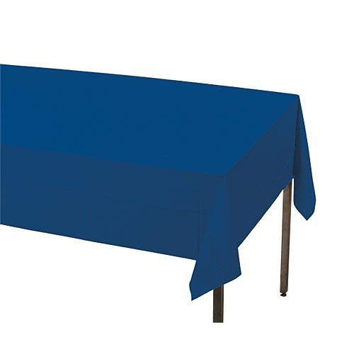 (Creative Converting Touch of Color Plastic Table Cover, 54 by 108-Inch, Navy)