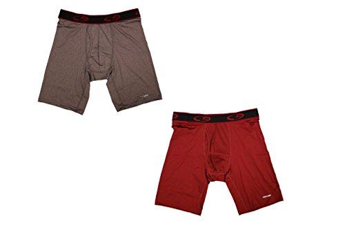 C9 Premium Power Cool Technology Long Boxer Briefs, 2 Pack (Red&Grey) (Medium, - Shop C9