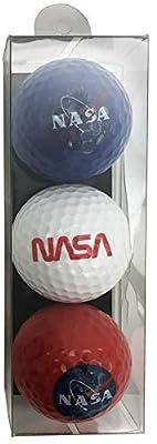 NASA Space Meatball Logo Souvenir Golf Balls 3 Pack Unique NASA Meatball Golf Balls