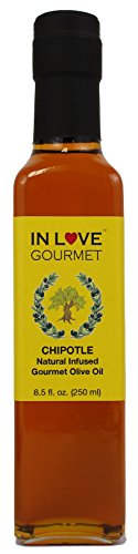 Infused Chipotle - In Love Gourmet Chipotle Natural Flavor Infused In Love Gourmet Olive Oil 250ML/8.5oz Smokey Chipotle Pepper Flavored Pure Olive Oi