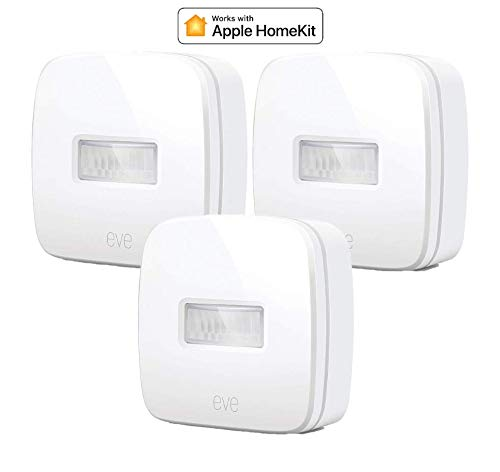 Eve Apple - Eve Motion Smart Wireless Motion Sensor with IPX 3 Water Resistance, get Notifications, Automatically Trigger Accessories and Scenes, no Bridge Necessary, Bluetooth (Apple HomeKit) (3-Pack)