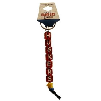 Game Day Outfitters NCAA Nebraska Cornhuskers Beaded Keychain Huskers - Huskers Keychain
