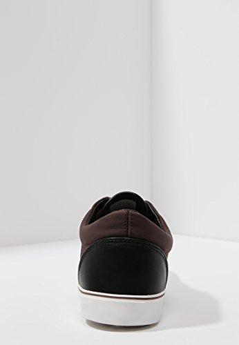 Sneakers uomo Marrone uomo bianca suola antiscivolo casual da chic uomo basse Scarpe casual Sneakers marrone con o in da pelle nera da YOURTURN BP8qZEn
