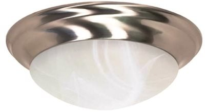 MONUMENT GIDDS2-103083 Sanibel Flush Mount Ceiling Fixture, Oil Rubbed Bronze, 16 In., Uses 1 55-Watt Compact Fluorescent Lamp - 617226, by Unknown
