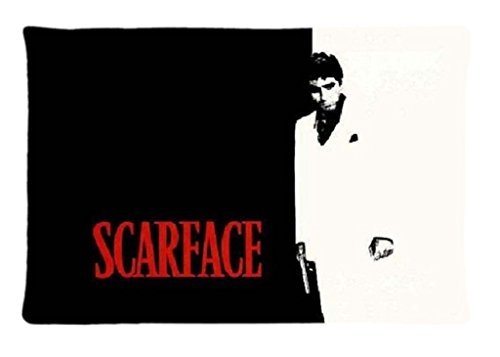 Custom Scarface Home Decorative Pillowcase Pillow Case Cover Standard Size 20x30 Inch Two Sides