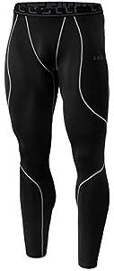 TM-YUP43-KLG_Medium Tesla Men's Thermal Wintergear Compression Baselayer Pants Leggings Tights YUP43