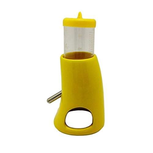 Alfie Pet by Petoga Couture - 2-in-1 Water Bottle with Hut for Small Animals like Dwarf Hamster and Mouse - Color Yellow by Alfie (Image #4)
