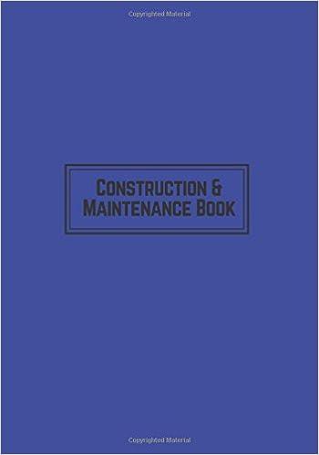 construction maintenance book navy daily activity log book