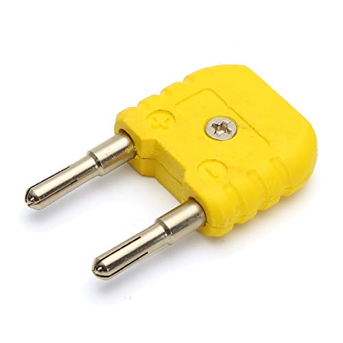 - K-Type Thermocouple Adaptor from Mini K Type to Round Banana Plug Thermometer