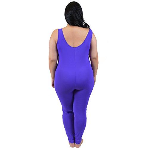 Stretch is Comfort Women's Plus Size Nylon Unitards Purple XXX-Large