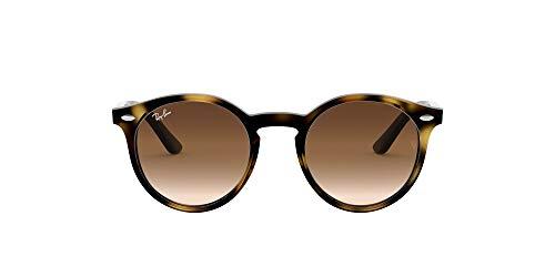 Ray-Ban Junior Kid's RJ9064S Round Kids Sunglasses, Shiny Havana/Brown Gradient, 44 mm (Ray-ban Erika Braun)
