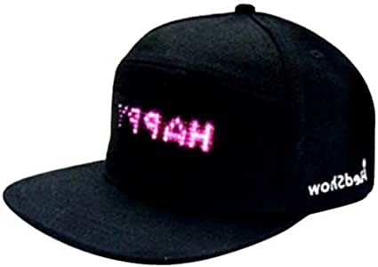 Mooyod - Gorra de béisbol Impermeable con Pantalla LED, Negro ...